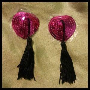 💎 Hot Pink Sequined Nipple Tassles